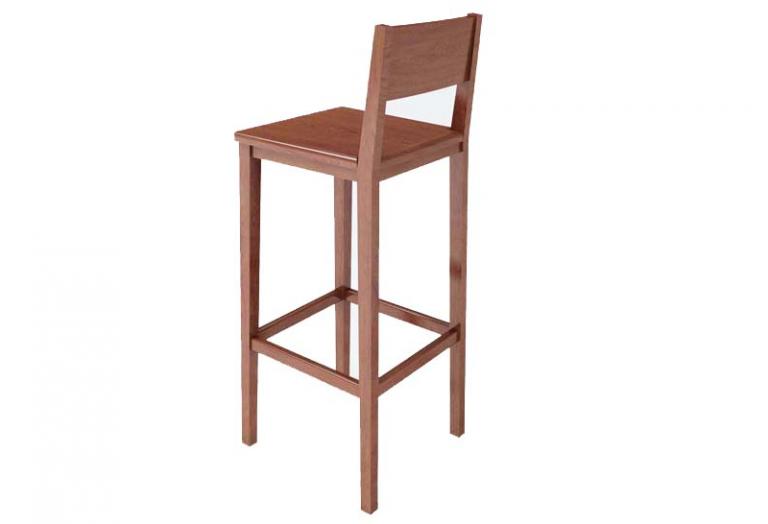 Ghế bar gỗ 03 được sản xuất từ gỗ chất lượng cao