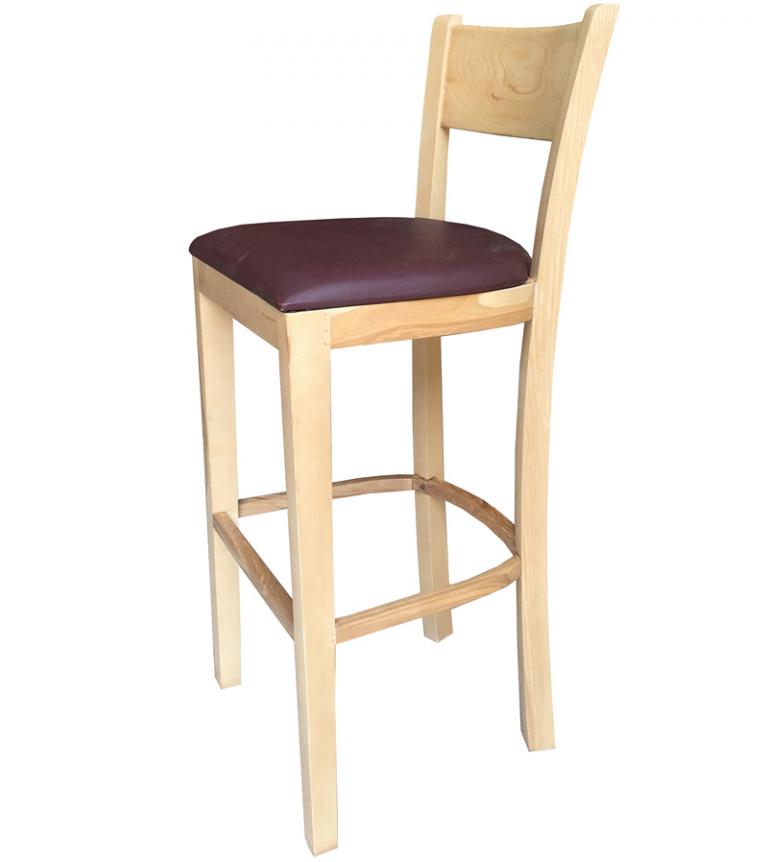 Ghế bar gỗ 01 được sản xuất từ gỗ tự nhiên