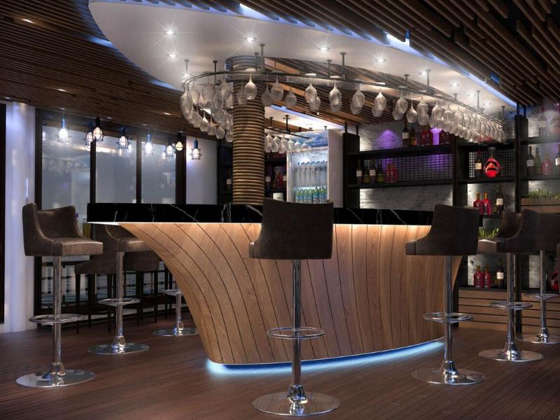 Khu vực thanh toán (quầy bar) hiện đại